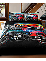 cheap -Moto 3-Piece Duvet Cover Set Hotel Bedding Sets Comforter Cover with Soft Lightweight Microfiber, Include 1 Duvet Cover, 2 Pillowcases for Double/Queen/King(1 Pillowcase for Twin/Single)