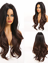 cheap -Synthetic Wig Deep Wave Middle Part Wig Medium Length A1 A2 A3 A4 A5 Synthetic Hair Women's Cosplay Party Fashion Black Brown