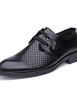 cheap -Men's Oxfords Business Classic British Daily Office & Career PU Breathable Non-slipping Wear Proof Black Brown Spring Summer