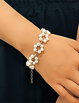 cheap -Women's White Pearl Bead Bracelet Bracelet Classic Flower Stylish European Sweet Alloy Bracelet Jewelry White For Wedding Party Evening Date Birthday Festival