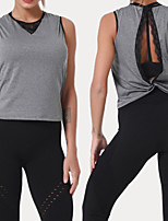 cheap -Women's Tank Top Tee / T-shirt Cut Out Lace Crew Neck Spandex Sport Athleisure Top Sleeveless Breathable Soft Comfortable Yoga Running Everyday Use Casual Daily Outdoor