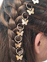 cheap -Women's For Street Birthday Party Fashion Wings Glitter Alloy Silver Golden Blushing Pink 6pcs