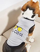 cheap -Dog Shirt / T-Shirt Vest Print Basic Adorable Cute Dailywear Casual / Daily Dog Clothes Puppy Clothes Dog Outfits Breathable Gray Costume for Girl and Boy Dog Cotton XS S M L XL