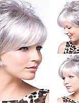 cheap -Synthetic Wig Curly Short Bob Wig Short Silver Synthetic Hair Women's Party Fashion Comfy Silver White
