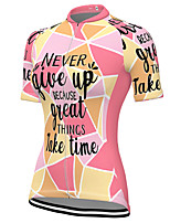 cheap -21Grams Women's Short Sleeve Cycling Jersey Spandex Pink Bike Top Mountain Bike MTB Road Bike Cycling Breathable Sports Clothing Apparel / Stretchy / Athleisure