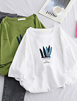 cheap -Women's Tee / T-shirt Pure Color Crew Neck Sport Athleisure Top Short Sleeves Breathable Soft Comfortable Everyday Use Casual Daily Outdoor