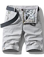 "cheap -Men's Hiking Shorts Hiking Cargo Shorts Military Solid Color Summer Outdoor 10"" Ventilation Multi-Pockets Breathable Cotton Shorts Bottoms Blue Orange Light Grey Khaki Beach Traveling 28 29 30 31 32"