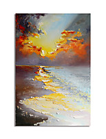 cheap -Oil Painting Hand Painted Abstract Landscape Canvas Painting Comtemporary Simple Modern with Stretcher Ready to Hang