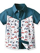 cheap -Kids Boys' Shirt Short Sleeve Graphic Print Children Children's Day Tops Basic Army Green 2-3 Y