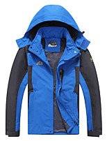 cheap -Men's Hiking Softshell Jacket Hiking Windbreaker Autumn / Fall Spring Summer Outdoor Patchwork Windproof Quick Dry Lightweight Breathable Jacket Hoodie Top Full Length Visible Zipper Fishing Climbing