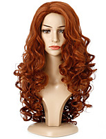 cheap -Synthetic Wig Deep Wave Middle Part Wig Medium Length Brown / Burgundy Black Synthetic Hair Women's Cosplay Party Fashion Black Brown