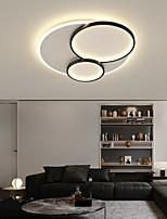 cheap -40/50 cm LED Ceiling Light Dimmable Circle Design Black Gold Geometric Shapes Flush Mount Lights Metal Artistic Style Stylish Painted Finishes Artistic LED 110-120V 220-240V