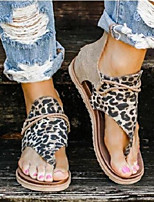cheap -Women's Sandals Boho Bohemia Beach Pumps Pointed Toe Gleit Sequin Solid Colored black strips Serpentine White leopard