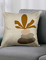 cheap -Double Side 1 Pc Leaf Cushion Cover  Print 45x45cm Linen for Sofa Bedroom