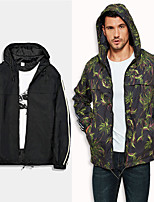 cheap -Men's Hiking Jacket Hiking Windbreaker Outdoor Camo / Camouflage Quick Dry Lightweight Breathable Sweat wicking Jacket Top Hunting Fishing Climbing Black Camouflage Green