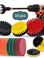 cheap -Electric Drill Brush 16-piece Sponge Pad Scouring Pad Cleaning Kitchen Floor Bathroom Car Polishing