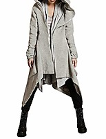 cheap -winter casual hoodie zipper jacket womens asymmetric solid quilted coat overcoat