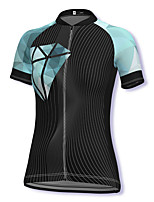 cheap -21Grams Women's Short Sleeve Cycling Jersey Spandex Black Stripes Bike Top Mountain Bike MTB Road Bike Cycling Breathable Sports Clothing Apparel / Stretchy / Athleisure