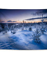 cheap -Wall Tapestry Art Decor Blanket Curtain Hanging Home Bedroom Living Room  Polyester Winter Snow Fir Trees