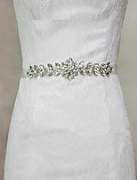 cheap -Other Material Wedding Sash With Crystals / Rhinestones Women's Sashes