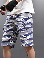 """cheap -Men's Hiking Shorts Camo Summer Outdoor 12"""" Regular Fit Breathable Soft Comfortable Wear Resistance Cotton Shorts Camouflage Hunting Fishing Climbing 28 29 30 31 32"""