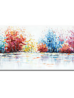 cheap -Mintura® Large Size Hand Painted Abstract Knife Trees Landscape Oil Painting On Canvas Modern Pop Art Wall Picture For Home Decoration (Rolled Canvas without Frame)