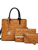 cheap -Women's Bags Bag Set Date Office & Career Bag Sets 2021 Handbags Black Blushing Pink Brown Coffee
