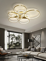 cheap -1/3/5 Heads Circle LED Dimmable Ceiling Light Black Gold Flush Mount Lights Metal LED Nordic Style 110-120V 220-240V