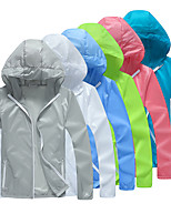 cheap -Women's Men's Hiking Jacket Cycling Jersey Hiking Skin Jacket Summer Outdoor Solid Color UV Sun Protection Ultraviolet Resistant Quick Dry Lightweight Jacket Hoodie Top Full Length Visible Zipper