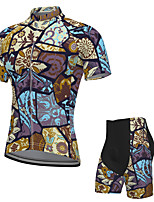 cheap -Men's Short Sleeve Cycling Jersey with Shorts Spandex Purple Bike Breathable Quick Dry Sports Graphic Mountain Bike MTB Road Bike Cycling Clothing Apparel / Stretchy / Athletic / Athleisure