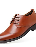 cheap -Men's Oxfords Business Casual Daily Office & Career Walking Shoes PU Wear Proof Black Brown Fall Spring
