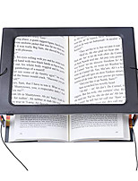 cheap -Hands-Free Magnifying Glass Large Full-Page Rectangular 3X Magnifier LED Lighted Illuminated Foldable Desktop Portable for Elder