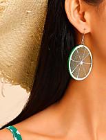 cheap -Women's Drop Earrings Geometrical Fruit Simple Bohemian Fashion Holiday Sweet Resin Earrings Jewelry Silver For Street Gift Date Vacation Beach 1 Pair