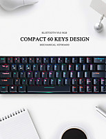 cheap -IFEIYO 64 Wireless Bluetooth Type C Wired Dual Mode Mechanical Keyboard Gaming Keyboard Outemu Switches Mini Size Rechargeable Programmable RGB Backlit 64 pcs Keys