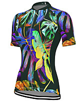 cheap -21Grams Women's Short Sleeve Cycling Jersey Spandex Purple Bike Top Mountain Bike MTB Road Bike Cycling Breathable Sports Clothing Apparel / Stretchy / Athleisure