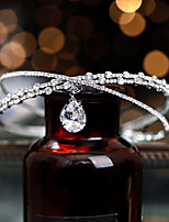cheap -Women's Hair Jewelry For Wedding Party Evening Engagement Party Birthday Party Wedding Crossover Crystal Alloy Silver 1pc