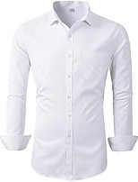 cheap -Tuxedos Standard Fit Mandarin Single Breasted More-button Cotton Blend / Polyester Solid Colored