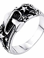 cheap -alicejewelry vintage mens stainless steel mushroom flower pentagram star biker ring,size 10