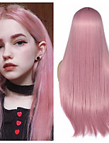 cheap -Synthetic Wig Natural Straight Middle Part Wig Medium Length Pink Black / Pink Synthetic Hair Women's Cosplay Party Fashion Black Pink