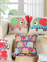 cheap -Double Side 1 Pc Cartoon Cushion Cover  Print 45x45cm Linen for Sofa Bedroom