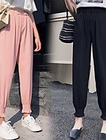 cheap -Women's Sweatpants Jogger Pants Elastic Waistband Solid Color Sport Athleisure Pants Breathable Soft Comfortable Plus Size Everyday Use Casual Daily Outdoor Exercising