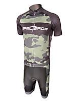 cheap -Men's Short Sleeve Cycling Padded Shorts Cycling Jersey with Bib Shorts Cycling Jersey with Shorts Dark Grey Bike Shorts Sports Clothing Apparel