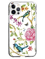 cheap -Flower Bird Case For Apple iPhone 12 iPhone 11 iPhone 12 Pro Max Unique Design Protective Case Pattern Back Cover TPU