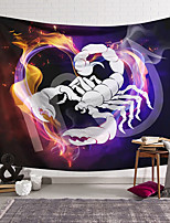 cheap -Wall Tapestry Art Decor Blanket Curtain Hanging Home Bedroom Living Room Colourful Polyester Scorpion