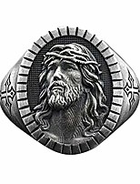 cheap -gothic jewelry, jesus rings, vintage retro silver color cross finger metal ring for men women prayer christian jesus band biker rock wedding jewelry (7)