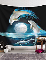 cheap -Wall Tapestry Art Decor Blanket Curtain Hanging Home Bedroom Living Room Novelty Whale Fantasy