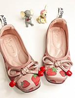 cheap -Girls' Sandals Princess Shoes PU Little Kids(4-7ys) Big Kids(7years +) Daily Walking Shoes Pink White Fall Winter
