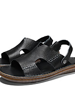 cheap -Men's Sandals Casual Beach Roman Shoes Athletic Outdoor Water Shoes Walking Shoes Cowhide Breathable Handmade Non-slipping Booties / Ankle Boots Black Brown Summer