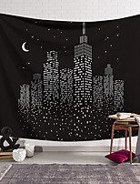cheap -Wall Tapestry Art Decor Blanket Curtain Hanging Home Bedroom Living Room Starry Sky City Landscape