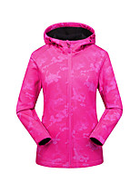cheap -Women's Hiking Softshell Jacket Waterproof Hiking Jacket Military Tactical Jacket Autumn / Fall Spring Outdoor Waterproof Windproof Quick Dry Lightweight Jacket Hoodie Top Spandex Full Length Visible